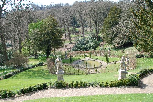 Caius Cibber sculptures in the formal gardens at Belvoir Castle