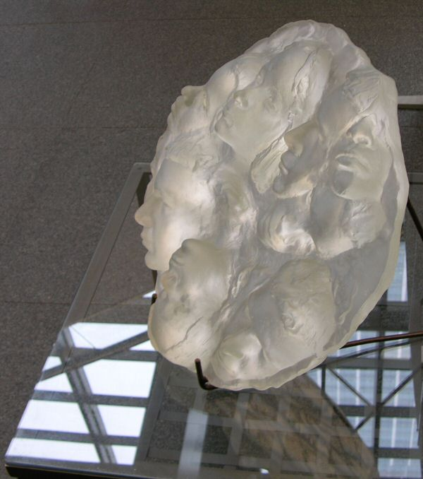 Glass sculpture relief future hope hsbc art exhibition