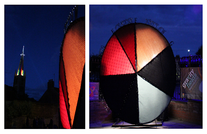 Click here for more images and info on Newton Colour Circle Community Sculpture / Art Installation for Gravity Fields Festival, Grantham, Lincolnshire
