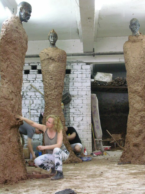 Monumental Statues Original Trio Of Monumental Sculptures