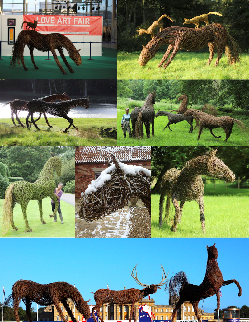 Just a few of my willow sculptures of animals